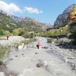 Piena del torrente Raganello nel Parco del Pollino (foto vigili del fuoco)