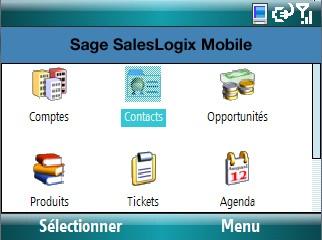 sage saleslogix sur Mobile