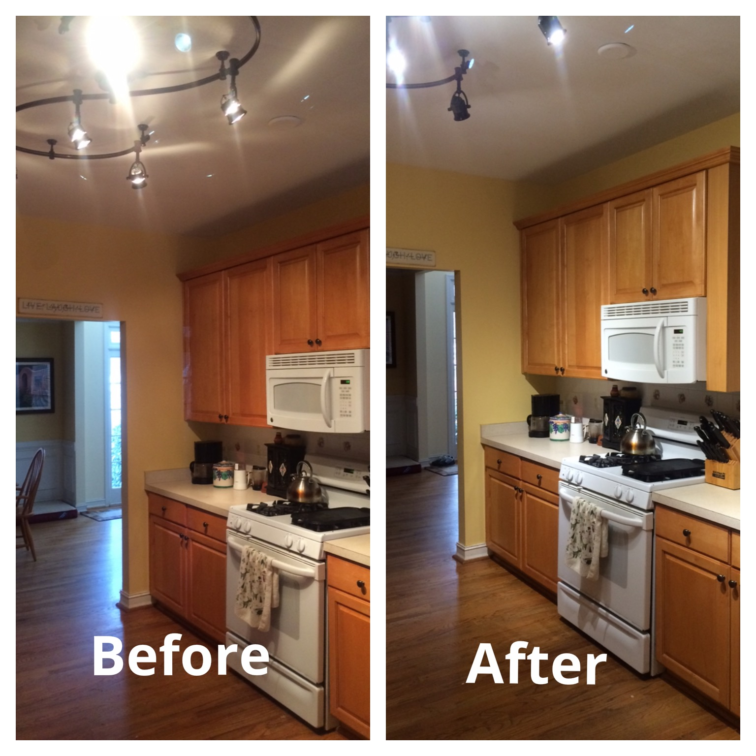 led lights replace halogens in kitchen update led lights for kitchen For the 10 years that we have lived in our house we had functional but not very stylish troffer lights in our kitchen They are great for work spaces and