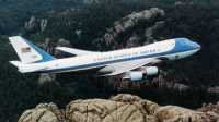 Air Force One over Mt. Rushmore: now the Obama campaign plane?