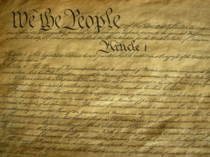 The Constitution. A social studies teacher should know what this document means.