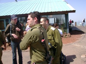 Members of the Israel Defense Forces on the Golan Heights
