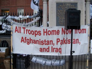Afghanistan War protest in Boston