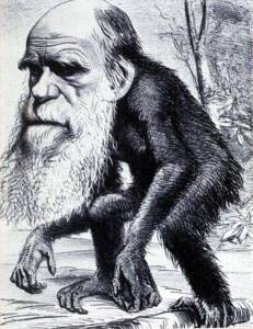 This caricature of Darwin is ironically much like the mental image of the villains in Atlas Shrugged
