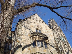 Yale University's Branford College and Harkness Clock Tower