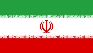 Flag of the Islamic Republic of Iran. Will ships flying this flag close the Strait of Hormuz?