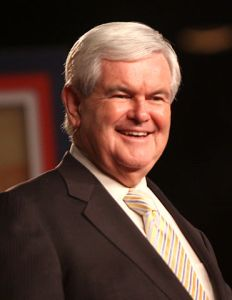 Newt Gingrich at CPAC Florida. He is the new leader in the GOP race.