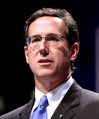 Rick Santorum, heavy favorite at the 2012 March for Life.