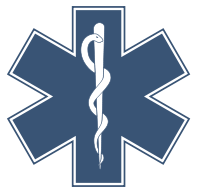 The Star of Life, symbol of medicine, and of doctors.