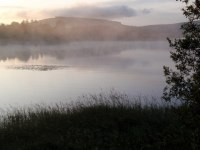 Mist on Blessington Lake. This is a good model of the pre-Flood water cycle.