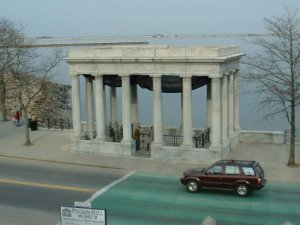 Plymouth Rock Monument, Plymouth, MA, where the Pilgrims landed