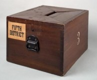 Ballot box. The Texas voter ID law will stop people from stuffing this.