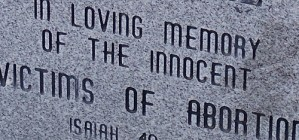 In loving memory of the innocent victims of abortion