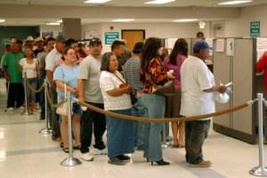 The unemployment line