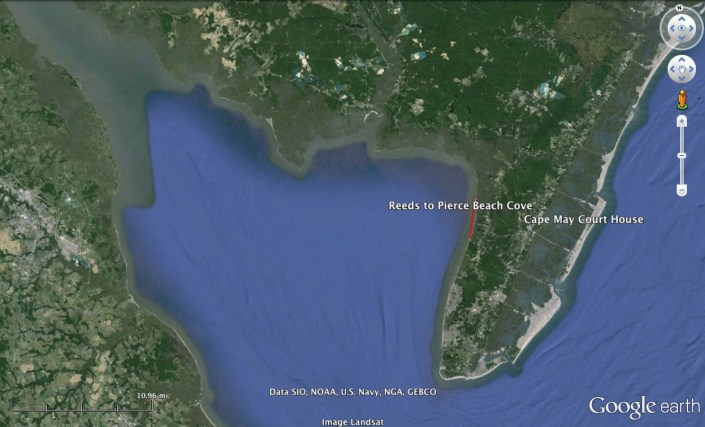 map of reeds to pierces cove