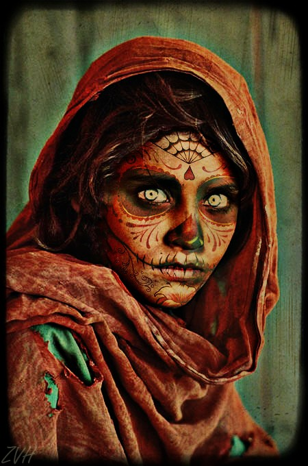 Afghan Girl Day of The Dead