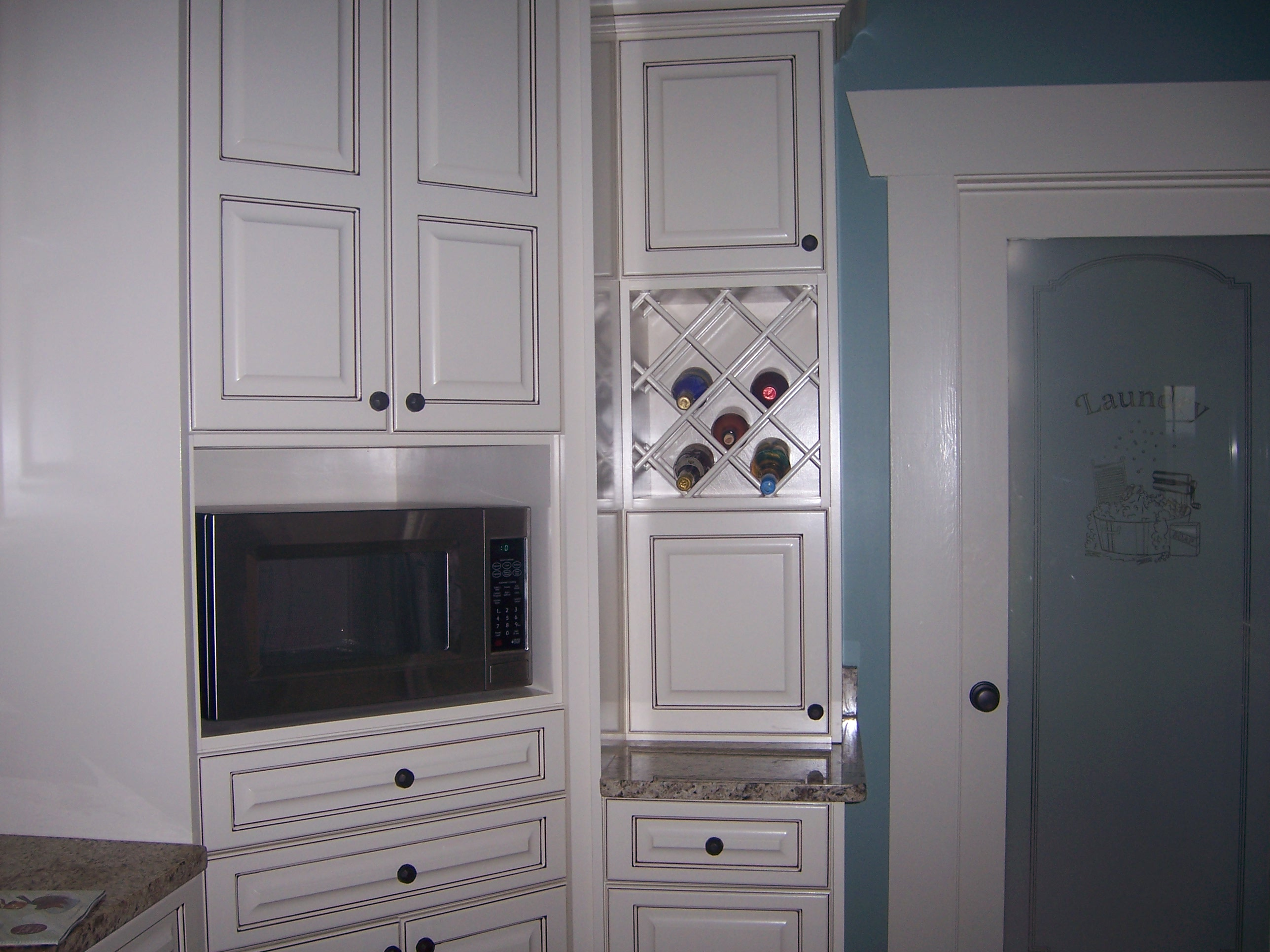 Kitchens kitchen wine cabinet Cabinets with Microwave Cabinet and Wine Rack Custom Kitchen