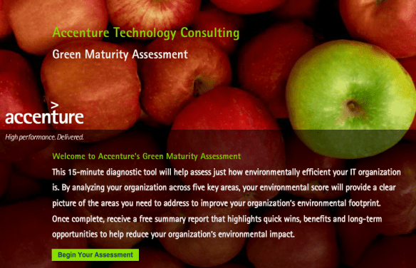 Maturity Model Accenture online assessment - Consulting blog