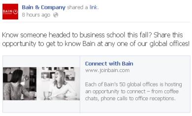 Bain Facebook