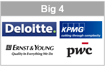 Big 4 - Deloitte KPMG Ernst & Young PwC