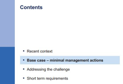 McKinsey Presentation - Table of Contents