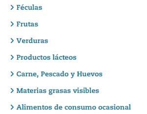 Calculadora nutricional OCU