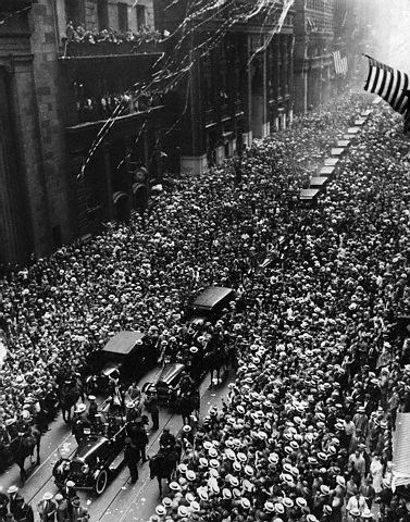 New York City's parade celebrating Gertrude Ederle's Channel swim, August 27, 1926.
