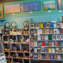Inside the book store.