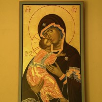 Our handwritten icon of Our Lady of Comfort.