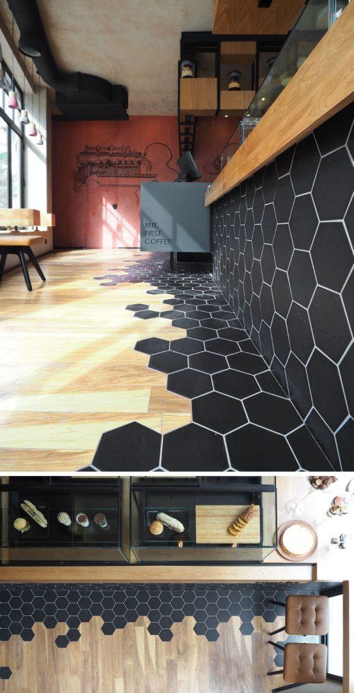 Medium Of Black Hexagon Tile