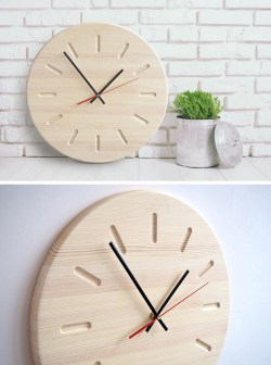 Small Of Unique Wooden Wall Clocks
