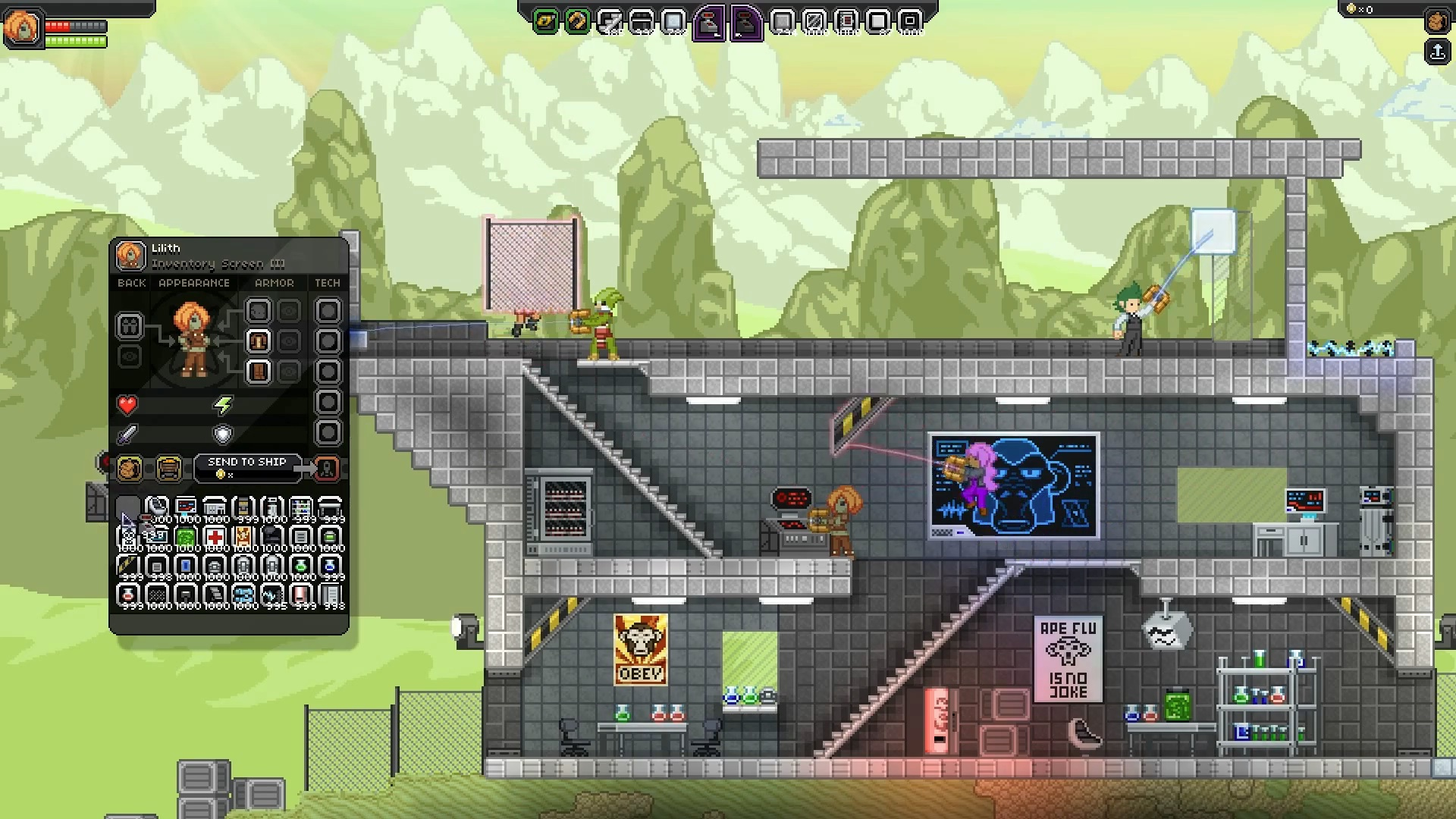Starbound Demonstrates Building (Process)