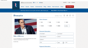 Romney landing page optimization - example 1