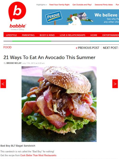 Babble.com Ways to Eat an Avocado