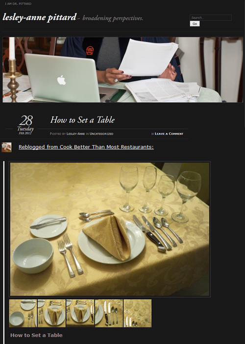 How to set a table reblog