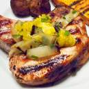 Brined Grilled Pork Chops with Honeybell Orange Relish
