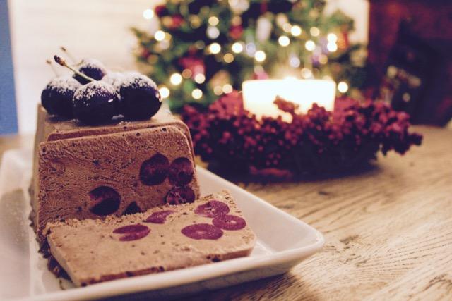 Frozen Chocolate Cherry Mousse