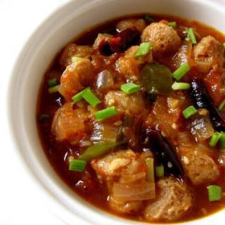 Chilli Soya Chunks / Meal Maker Recipe