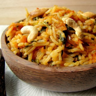 Tomato Spinach Pulao – Easy Pulao Recipe, Step by Step
