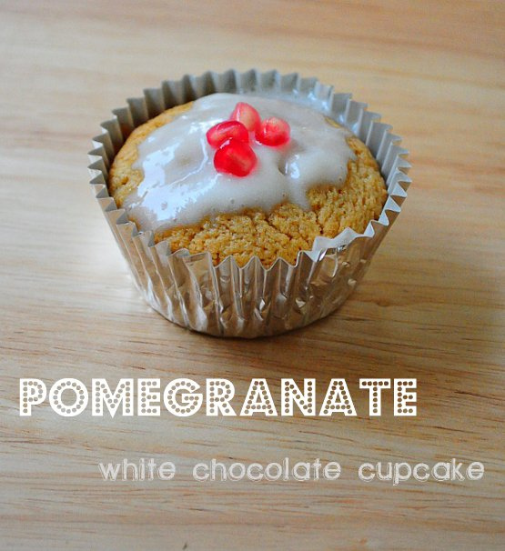 pom white chocolate cupcake