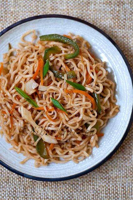 Vegetable Noodles Recipe - Indian Chinese Veg Noodles Recipe