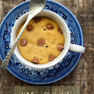 1-Min Chocolate Chip Cookie in a Cup – Microwave Choc Chip Cookie Recipe