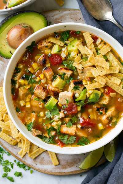 Grilled Chicken Tortilla Soup - Cooking Classy