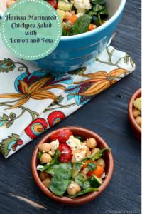 Harissa Marinated Chickpea Salad with Lemon and Feta