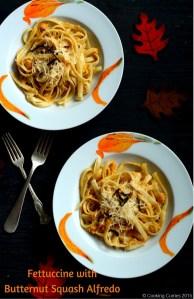 Fettuccine with Butternut Squash Alfredo | A Fall Recipe