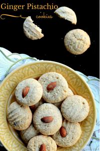 Ginger Pistachio Cookies
