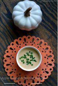 Apple Ginger Butternut Squash Soup–A Fall Recipe