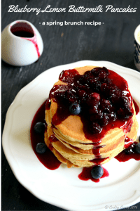 Blueberry Lemon Buttermilk Pancakes | Spring Brunch Recipe
