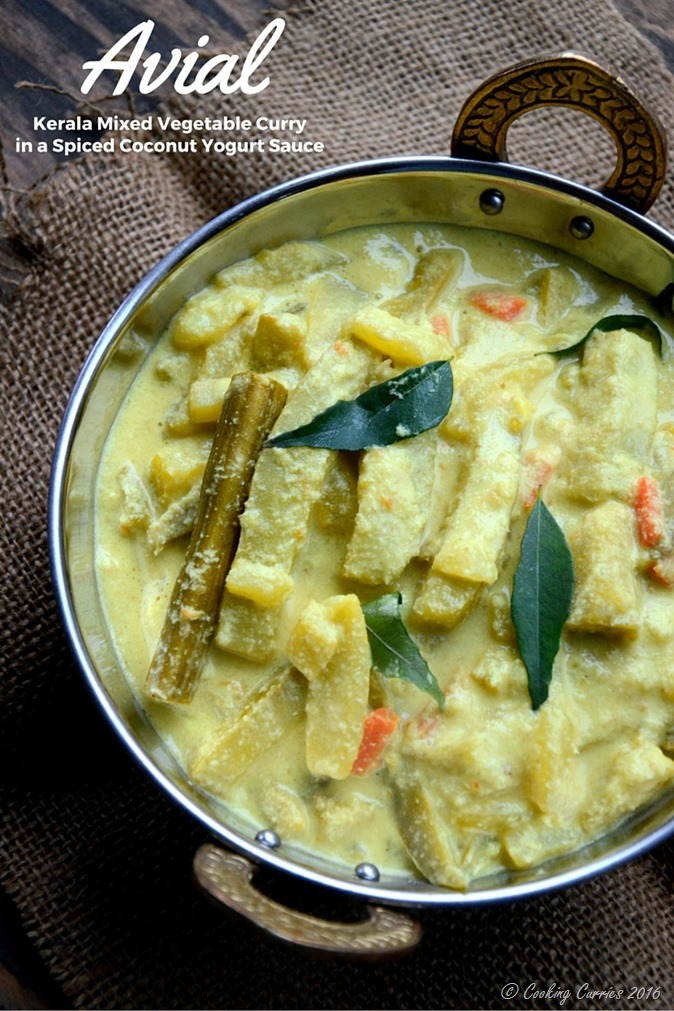 Avial kerala mixed vegetable curry with coconut and for Avial indian cuisine
