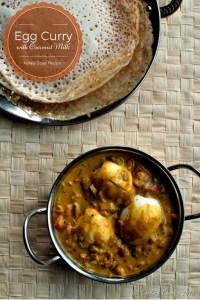 Kerala Style Egg Curry with Coconut Milk ~ Nadan Mutta Curry